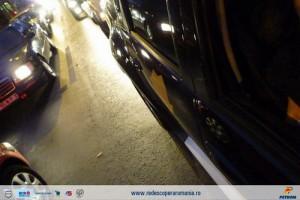 In Bucuresti, trafic aglomerat